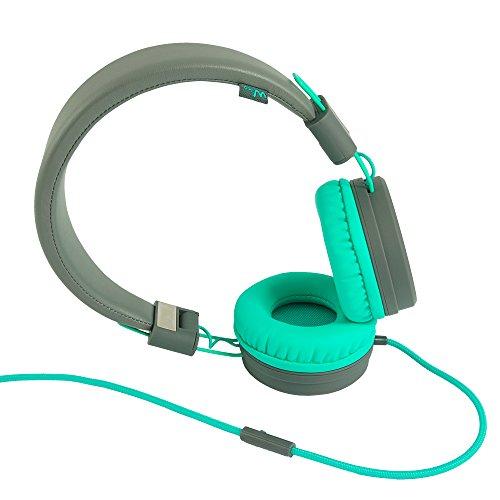 Wiko WiSHAKE Kopfband Binaural Verkabelt Grün, Grau Mobiles Headset - Mobile Headsets (Verkabelt, Kopfband, Binaural, Ohraufliegend, 20-20000 Hz, Grün, Grau)