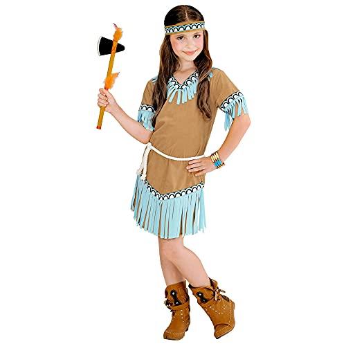 Widmann?Enfants Costume Indienne, 8-9 ans, Marron