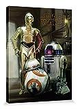 1art1 Star Wars - Droids R2-d2, C3-po, Bb-8 Bilder