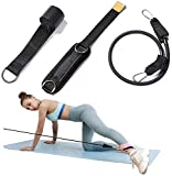 TOCO FREIDO Door Flexibility Resistance Bands Set, Workout Bands - with Door Anchor and Ankle Straps - Stackable Up To 105 lbs - For Resistance Training, Physical Therapy, Home Workouts, Yoga, Pilates