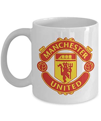 Manchester United Tasse (Weiß) - Diese 11 Unzen Manchester United Kaffeetasse - Manchester United Cup - Manchester Tasse - Manchester Kaffeetasse - Manchester M.