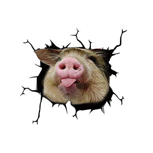 Vista de Agujero vívida Linda Pegatina de baño 3D Animal Mascota Perro Pegatina de Pared Decorativa baño Fondo Pegatinas de Pared Personalidad decoración del hogar