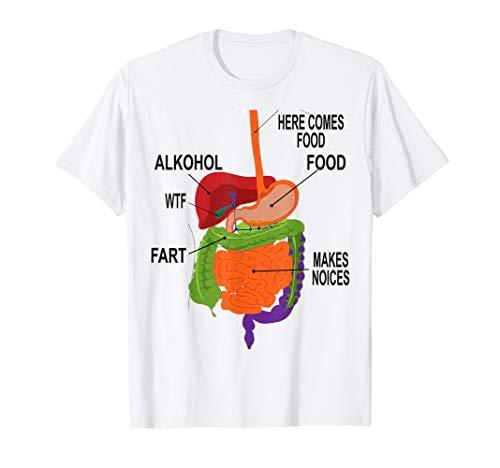 Anatomie Lustiges Witzig Fasching Karneval Kostüm Arzt Shirt T-Shirt
