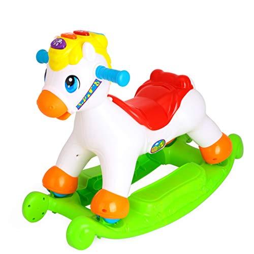 LINGZHIGAN for Enfants Petit Cheval coulissantes en Bois à Double Usage en Plastique épaissie Rocking Chair bébé Rocking Horse Toy Ans Cadeau