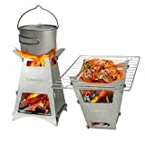 Firepit Wood Burning Camping Stove Portable Backpacking Stoves Fire...