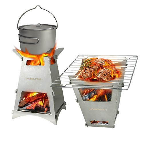 Firepit Wood Burning Camping Stove Portable Backpacking...