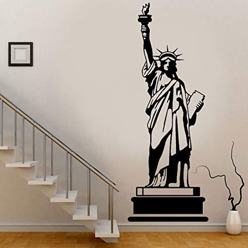 Opprxg Edificio emblemático de Nueva York Estatua de la Libertad Pegatinas de Pared decoración del hogar Vinilo para Sala de Estar 57x154cm