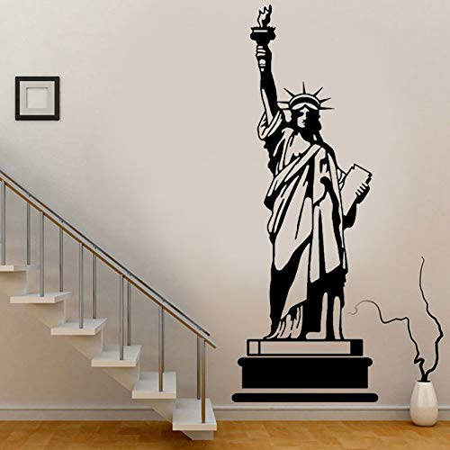 wZUN 2pcs New York Wahrzeichen Gebäude Freiheitsstatue Wandaufkleber Vinyl abnehmbar 57X154cm