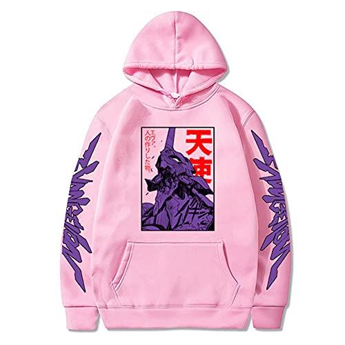 Jiumaocleu Sudadera ligera unisex con capucha EVA Anime Sudadera con capucha Fleece Sudadera deportiva Sweatershirt Top casual para otoño invierno