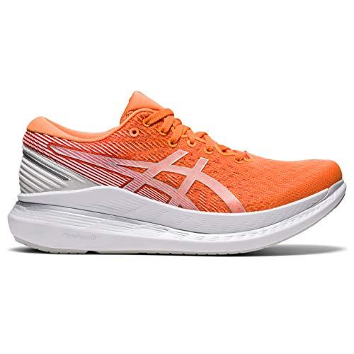 ASICS Zapatillas de running Glideride 2 para mujer, color melocotón/blanco, color, talla 40.5 EU