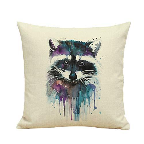 Sccarlettly Fox Pillow Throw Pillow Taille Casual De Chic L'Oreiller Souple 45 X 45 Cm Mode Simplicité Confortable Usage Quotidien Chic (Color : Colour, Size : Size)