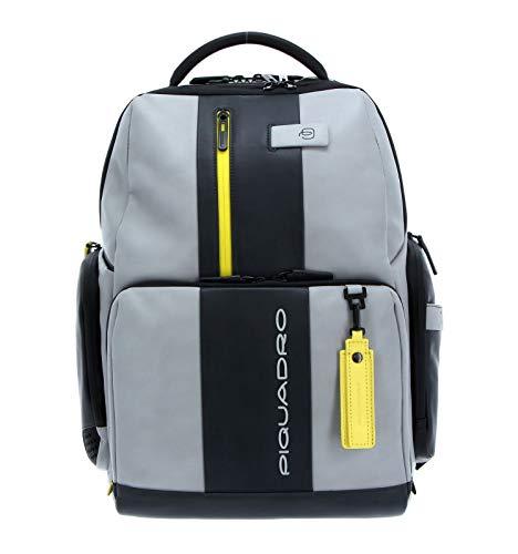 PIQUADRO Urban Computer Backpack Grigio/Giallo