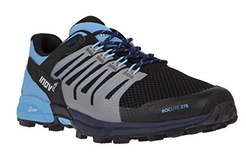 Inov-8 Womens Roclite G 275 - Lightweight Trail Running OCR Shoes - Graphene Grip - for Obstacle, Spartan Races and Mud Running - Navy/Blue M7/ W8.5