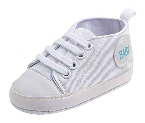 Plus Nao(プラスナオ) ファーストシューズ ベビーシューズ ルームシューズ スニーカー 赤ちゃん 靴 室内用 室内履き 滑り止め付き 英字 カ 13cm ホワイト