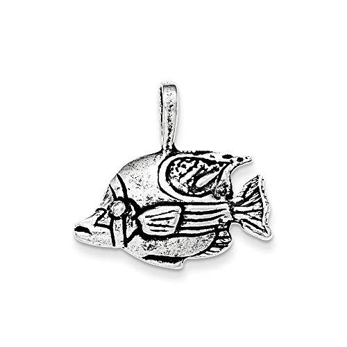 Sterling Silber Antik Fisch Kette Folie Anhänger