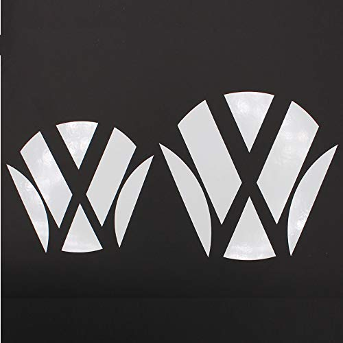 Finest Folia Emblem Ecken Inlays Folie Aufkleber passgenau K006/K007 (Weiß Glanz)