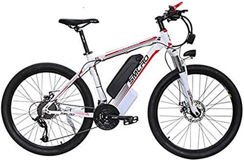 Leifeng Tower Alta Velocidad Bicicleta eléctrica de montaña for Adultos con 36V 13Ah de Iones de Litio E-Bici con Faros LED 21 Velocidad 26 '' Neumático