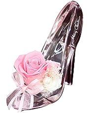 プリザーブドフラワー ギフト シンデレラ プレミアム ガラスの靴