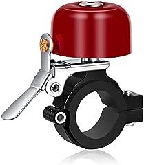 Greallthy Timbre para bicicleta, clásico de latón con bonito tono fuerte para bicicleta de carretera, bicicleta de montaña, accesorios de ciclismo (rojo)