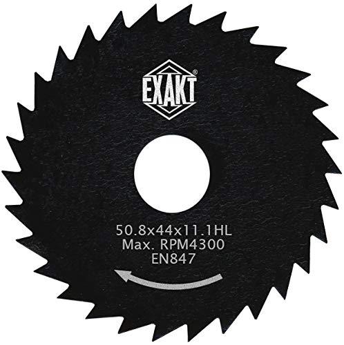 Exakt Kreissägeblatt für EC-310N & EC-320 – 44 HSS – 50.8 x 44 x 11.1 HL – RPM 4300 – Für Laminat, MDF, Kunststoffe & Verbundstoffe