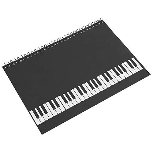 Stave Notebook, 50 páginas, Personal de notación Musical, Cuaderno de música, manuscrito, Papel de Escribir(Piano Negro)