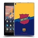 Official FC Barcelona Badge Culé Soft Gel Case Compatible for Amazon Fire HD 10 (2017)