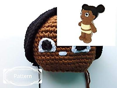 Crochet Pattern for Miss Elaina Chibi doll, african american doll, handmade toy, stuffed animal, Amigurumi pattern, Daniel tiger