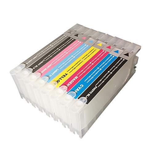 WSCHENG 7800/9800/7400/9400 Cartuchos de Tinta Recargables con Chips de Arco y un Resetter para Epson Cartuchos de Tinta Recarregave