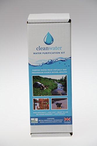 Cleanwater Reise- und Notfall Wasserfilter für sauberes Trinkwasser mit 1x Sterasyl Filterkerze