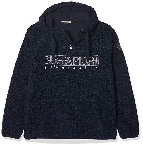 Napapijri Herren TEIDE 2 Sweatshirt, Blau (BLU Marine 176), (Herstellergröße:S)