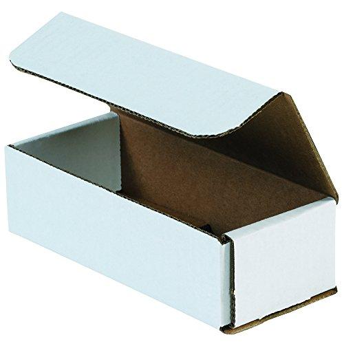 "Aviditi M731 Corrugated Mailers, 7"" x 3"" x 1"", Oyster White (pacote com 50)"