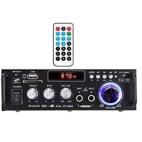 XMAGG® Amplificador HiFi 600 Vatios Compacto MP3 Conector conexión con Smartphone y...