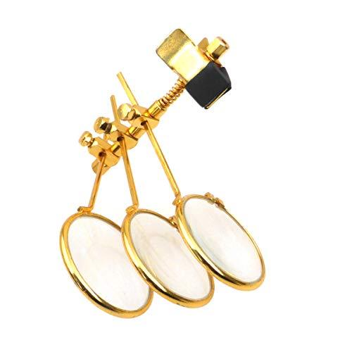 BULLONGÈ VARIO-TRIPLE Klipplupe für Brillenträger, perfekt für Uhrmacher