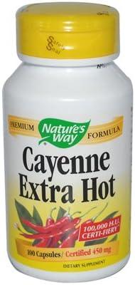 Nature'S Way Cayenne Extra San Francisco Mall 10000Hu 100 Cap Hot Max 46% OFF