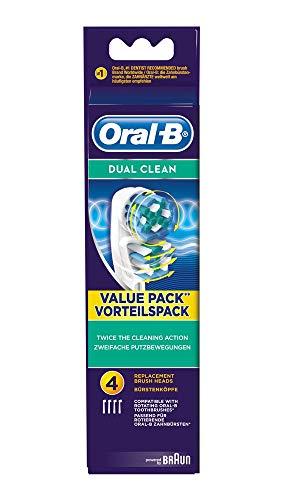 Oral-B Opzetborstels Dual Clean Powered by Brown 4-Pack