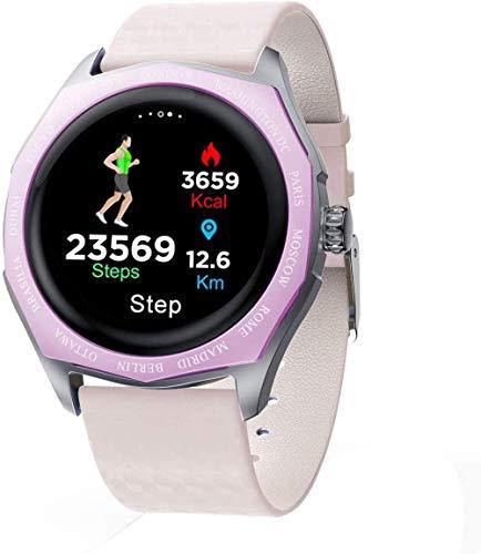 JIAJBG Smart Watch, Reloj Deportivo para Hombres Mujeres Reloj de Fitness Monitor de Ritmo Cardíaco Ip67 Impermeable, Reloj Digital con Calorías de Cálculo de Sueño-Púrpura Exquisit