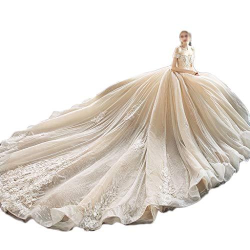 Vestido de Novia Principal La Novia Casado Hombro Plano Qi P