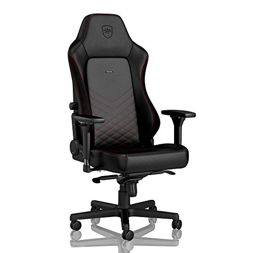 noblechairs Hero Gaming Chair - Office Chair - Desk Chair - PU Faux Leather - Black/Red