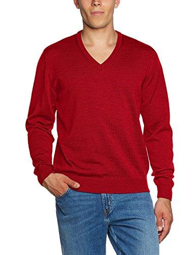 Maerz Herren Regular Fit Pullover, Gr. 52 Rot (440)