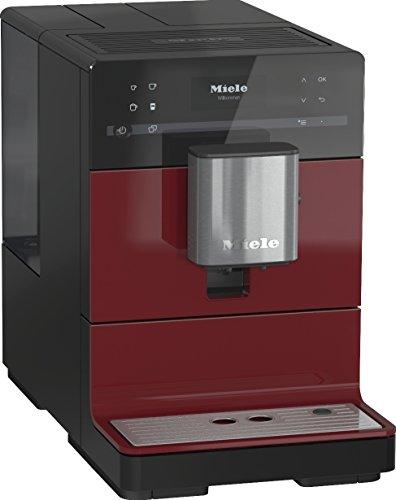 Miele CM 5300 Kaffeevollautomat (OneTouch- und OneTouch for Two-Zubereitung, automatische Spülprogramme, komfortable Reinigungsprogramme, entnehmbare Brüheinheit, Edelstahl-Kegelmahlwerk) schwarz/rot