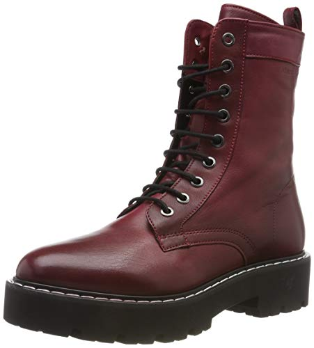 Marc O'Polo Damen 90715496301100 Stiefeletten, Rot (Bordo 375), 38 EU