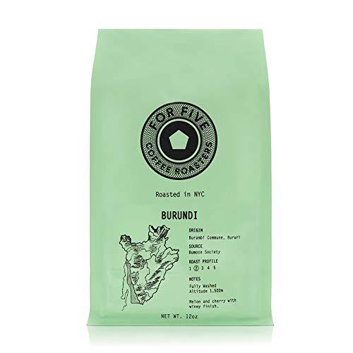 For Five Coffee Roasters Burundi Light Roast (Origin: Burambi Commune, Bururi) Whole Bean 12 oz