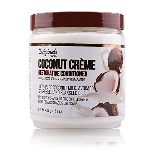 Africa's Best Originals by Crème Restorative Hair Conditioner Restores Vibrancy to Dry Brittle Hair Repairs Damage and Breakage 15 oz, green, coconut, 1 Count, (Pack of 6)