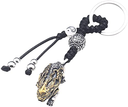TIANYOU Accesorios de Anillos de Llaves S925 Sterling Silver Car Keychain Es un Accesorio Colgante Que Simboliza la Riqueza Y Es Muy Adecuada para Hombres Y Mujeres. Encanto de B