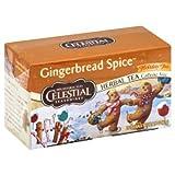 Celestial Seasonings Holiday Herbal Tea - Gingerbread Spice - Caffeine Free - 20 Bags - (Pack of 6)