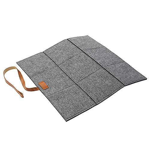 Cojín de fieltro plegable gris (color a elegir) para sillas, bancos, taburetes
