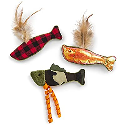 SmartyKat, Fish Friends, Soft Plush Cat Toys, Catnip Filled, Pure, Potent, Durable, with Feathers and Crinkle, Set of 3 by Quaker Pet Group