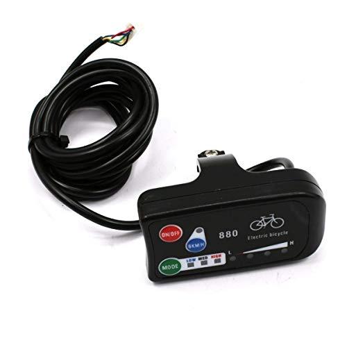 Adanse - Indicador LED para bicicleta eléctrica (24 V, 36 V, 48 V, LED 880, pantalla para control de bicicletas eléctricas)