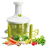 Express Food Chopper - Manual Vegetable Cutter Food Processor 8 Cup Onion Food Chopper for...