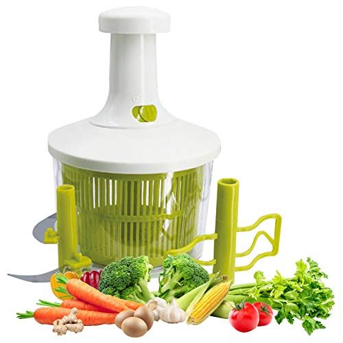 Express Food Chopper - Manual Vegetable Cutter Food Processor 8 Cup Onion Food Chopper for Salsa,Vegetables, Herbs,Pesto,Hummus, Guacamole, Coleslaw,Puree